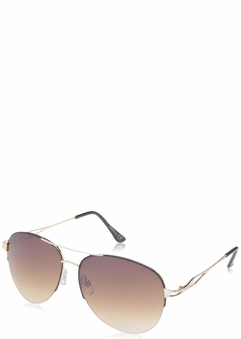 Laundry by Shelli Segal Laundry by Design Women's Ld280 Gldbn Non-Polarized Iridium Aviator Sunglasses