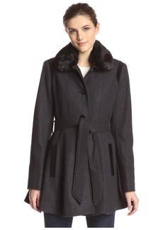 Laundry By Design Women's Wool Bland Flared Coat