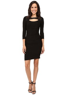 Laundry by Shelli Segal 3/4 Sleeve Fitted Dress w/ Cut Outs