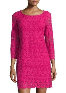 Laundry by Shelli Segal 3/4 Sleeve Mesh Dress