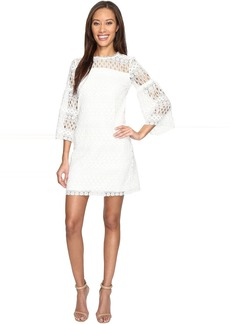 Laundry by Shelli Segal 3/4 Sleeve Venise Dress w/ Scallop Hem