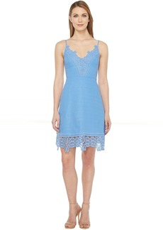 Laundry by Shelli Segal A-Line Dress w/ Lace Trim