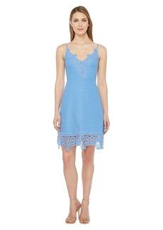 Laundry by Shelli Segal A-Line Dress w/ Lace Trim