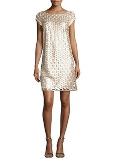 Laundry By Shelli Segal Allover Sequin Cap-Sleeve Dress