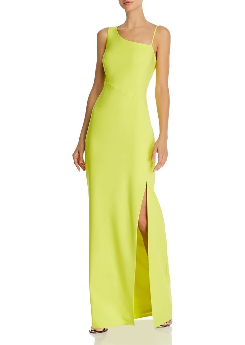 Laundry by Shelli Segal Asymmetric Luxe Crepe Gown