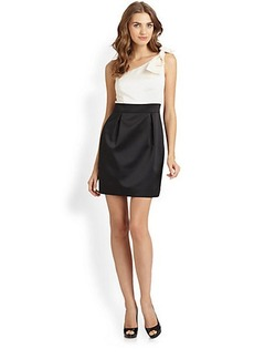Laundry by Shelli Segal Asymmetrical Bow Dress