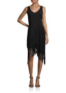 Laundry by Shelli Segal Asymmetrical Fringe Dress