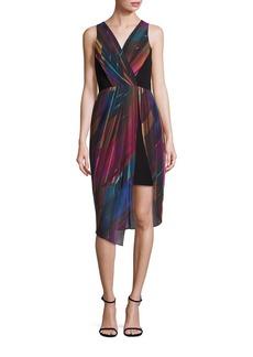 Laundry by Shelli Segal Asymmetrical Printed Dress