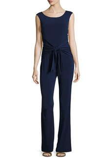 Laundry By Shelli Segal Back-Tie Sleeveless Jumpsuit