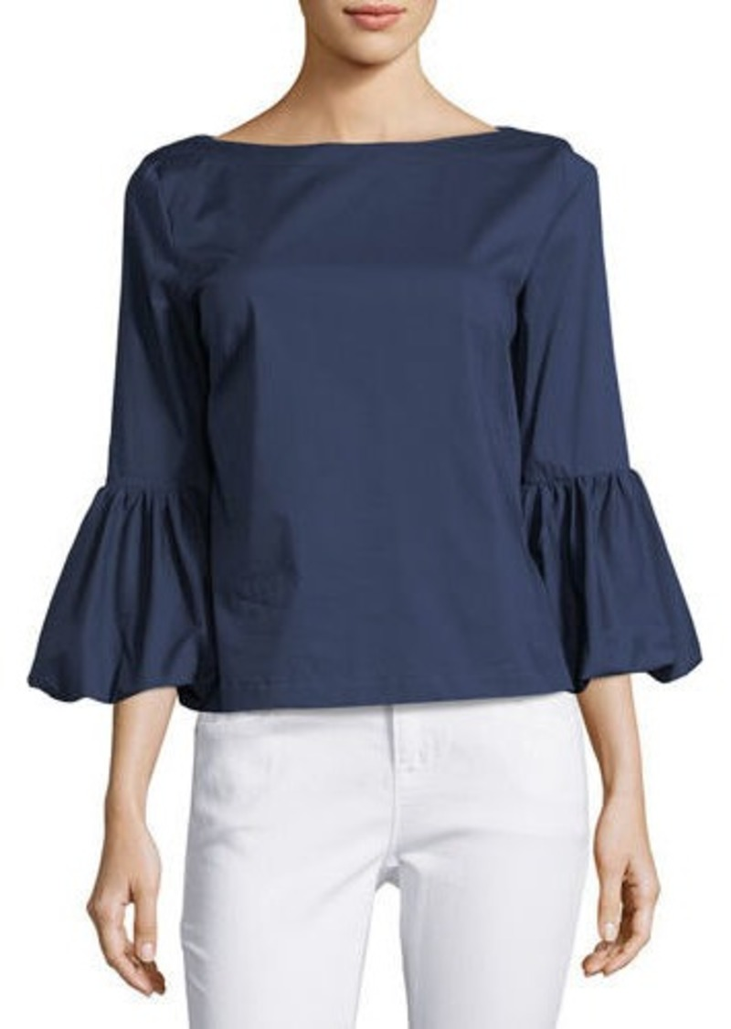 Laundry By Shelli Segal Balloon-Sleeve Poplin Blouse