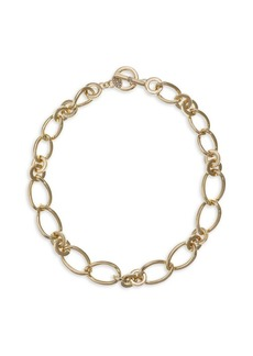 Laundry by Shelli Segal Basics Goldtone & Crystal Link Collar Necklace
