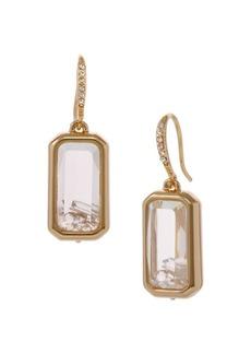 Laundry by Shelli Segal Basics Goldtone & Crystal Square Shaker Drop Earrings