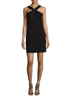 Laundry by Shelli Segal Beaded Crepe Halter Dress