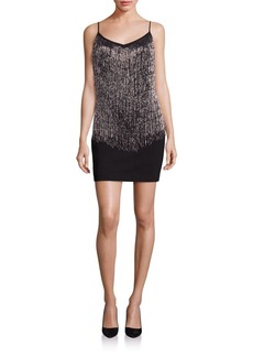 Laundry by Shelli Segal Beaded Fringe Dress