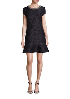 Laundry by Shelli Segal Beaded Jacquard Dress