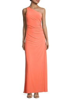 Laundry by Shelli Segal Beaded One-Shoulder Dress