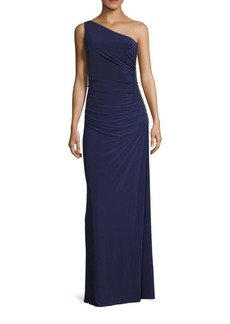 Laundry by Shelli Segal Beaded One Shoulder Gown