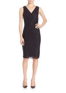 Laundry by Shelli Segal Beaded Wrap Dress