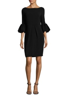 Laundry by Shelli Segal Bell Sleeve Crepe Dress