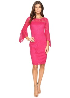 Laundry by Shelli Segal Bell Sleeve Lace Cocktail Dress