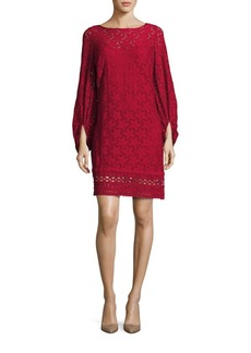 Laundry by Shelli Segal Bell Sleeve Lace Dress