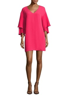 Laundry by Shelli Segal Bell Sleeve Shift Dress