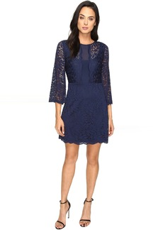 Laundry by Shelli Segal Belle Sleeve Stretch Lace Dress