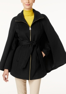 Laundry by Shelli Segal Belted Cape Coat, Only at Macy's