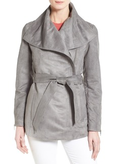 Laundry by Shelli Segal Belted Faux Suede Jacket