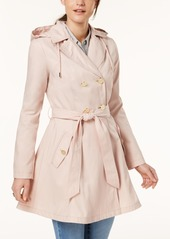 Laundry by Shelli Segal Belted Skirted Trench Coat