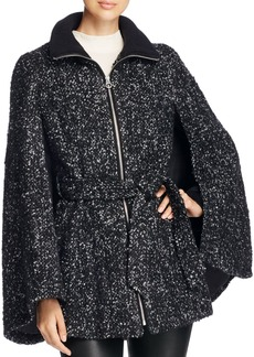 Laundry by Shelli Segal Belted Tweed Cape Coat