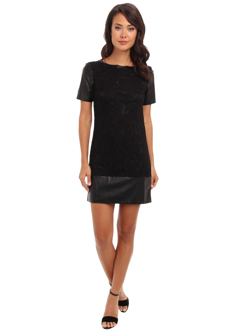 Laundry by Shelli Segal Black Lace T-Shirt Dress