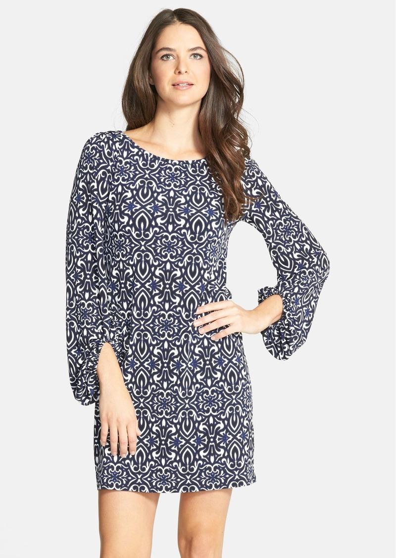 Laundry by Shelli Segal Blouson Sleeve Print Jersey Dress