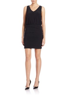 LAUNDRY BY SHELLI SEGAL Blouson Tiered Dress