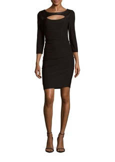 Laundry by Shelli Segal Boatneck Cutout Fitted Dress