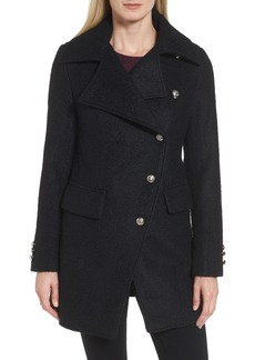 Laundry by Shelli Segal Bouclé Military Coat