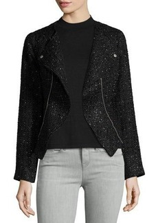 Laundry By Shelli Segal Boucle Moto Jacket