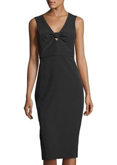 Laundry By Shelli Segal Bow-Detail Midi Sheath Dress