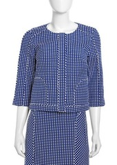 Laundry by Shelli Segal Boxy Swiss Dot Jacket