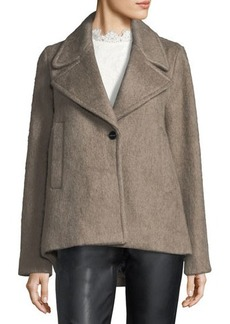 Laundry By Shelli Segal Brushed Wool Swing Coat