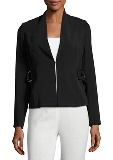 Laundry By Shelli Segal Buckle-Strap Crepe Jacket