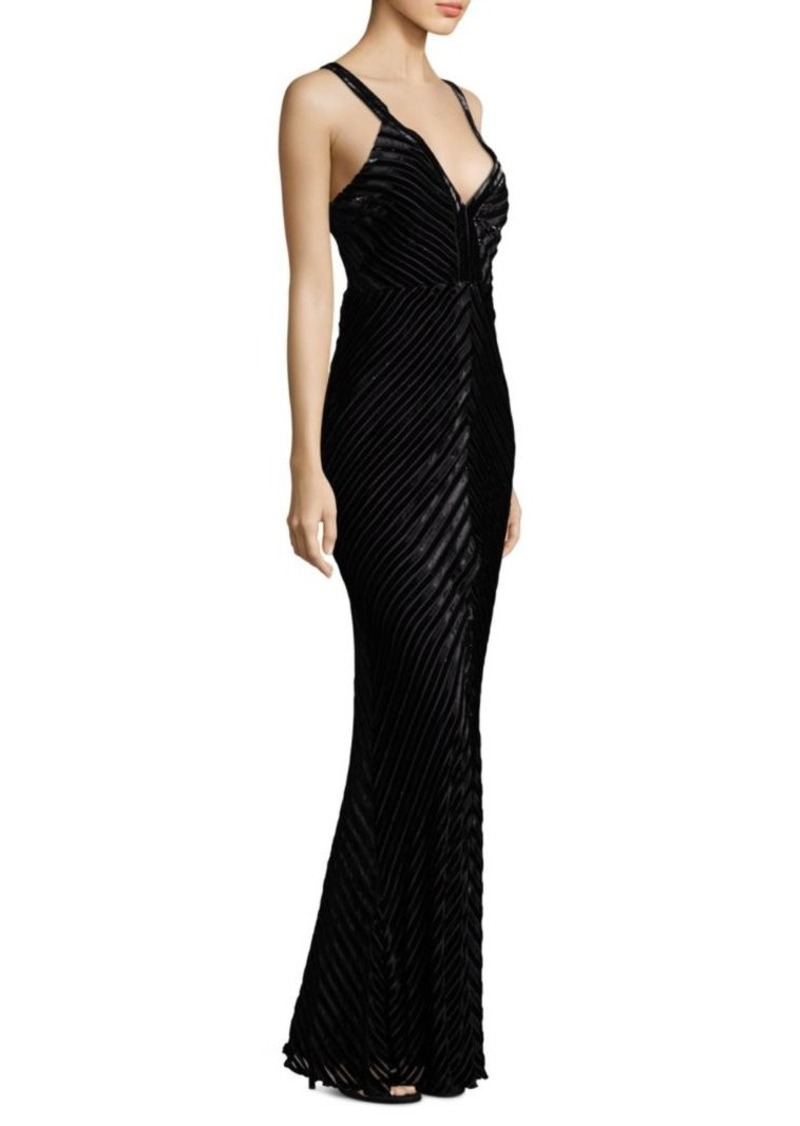 Laundry by Shelli Segal Burnout Velvet Gown