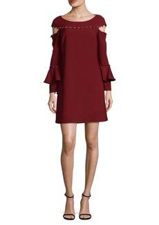 Button-Down Cold Shoulder Dress
