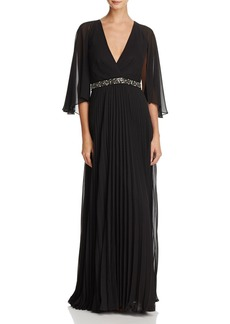 Laundry by Shelli Segal Cape-Back Gown