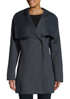 Laundry by Shelli Segal Cape Collar Mid Coat