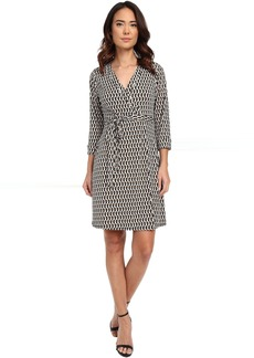 Laundry by Shelli Segal Chain Glam' Matte Jersey Wrap Dress