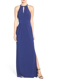 Laundry by Shelli Segal Chain Neck Jersey Gown