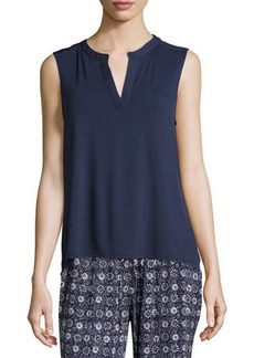 Laundry By Shelli Segal Chiffon-Back Sleeveless Tunic Top