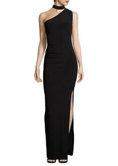 Laundry by Shelli Segal Choker One-Shoulder Gown