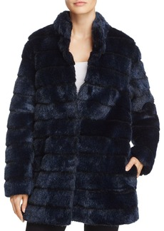 Laundry by Shelli Segal Chubby Faux Rabbit Fur Coat